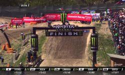 Jeffrey Herlings passes Jordi Tixier MXGP of Trentino 2015 - motocross