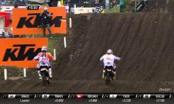 Jeffrey Herlings passes Pauls Jonas MXGP of Europe 2015 - motocross