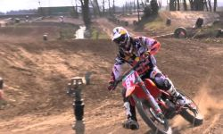 World Champion Jeffrey Herlings jumps the leap in Geldermalsen