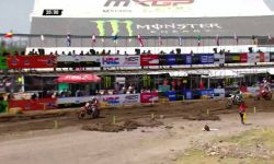 Max Anstie, Pauls Jonass and Jeffrey Herlings battle MXGP of Leon MX2 Race 1 2016