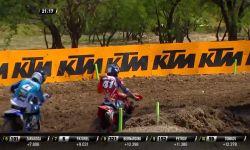 Jeffrey Herlings & Pauls Jonass battle & Jonass crash MXGP of Leon MX2 Race 1