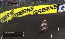 Jeffrey Herlings passes Jeremy Seewer MXGP of Germany MX2 race 2 - motocross 2016