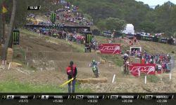 Jeffrey Herlings passes Dylan Ferrandis MXGP of Spain MX2 Race 1 - motocross