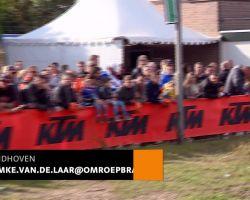 Motorcrosser Jeffrey Herlings uit Oploo gehuldigd op circuit in Eindhoven
