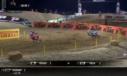 2017 MXGP of Qatar MXGP Race 1 Herlings & Paulin Battle