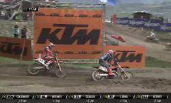MXGP of Trentino MXGP race 1 Jeffrey Herlings passes Glenn Coldenhoff