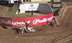 MXGP of Latvia Jeffrey Herlings passes Max Nagl at the last lap of MXGP Qualifying...