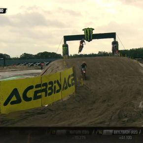 Herlings passes Paulin + Monticelli - MXGP Qualifying Race - Monster Energy FIM MXoN 2019