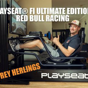 Jeffrey Herlings, World Champion MXGP, races with the Playseat® FI Ultimate Edition Red Bull Racing